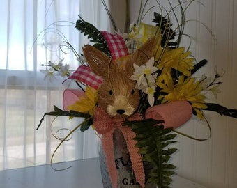 Easter bunny floral arrangement
