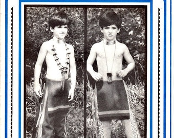 Eagle's View 72 Sewing Patterns Size S M L Boy's Leggins Breechcloth Costume Reenactments Indian Pow Wow's Leather or Fabric Layout Uncut