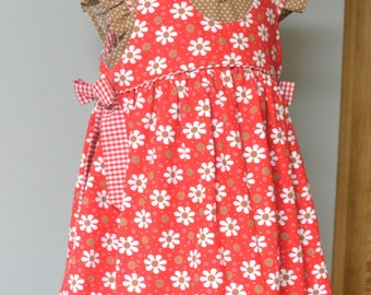 Huge Sale ... Girls Dress and Pinafore PDF Sewing Pattern ... Tabitha Dress & Pinafore with sleeve options