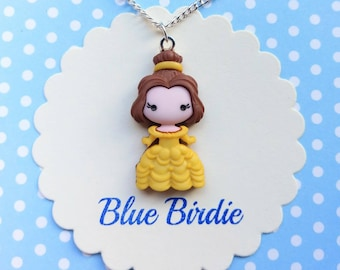 Disney Beauty and the Beast necklace Belle necklace Disney jewelry Disney jewelry Disney jewellery Belle pendant necklace Disney gifts