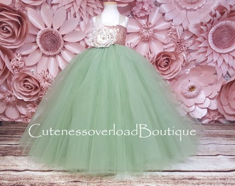 Sage Green Flower Girl Tutu Dress-Sage Green Tutu Dress-Sage Green Dress-Sage Green Girl Tutu-Sage Green Birthday Dress-Sage Green Bride
