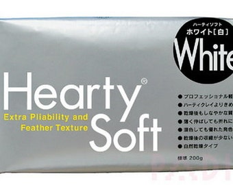 Padico White Hearty Soft 200g Modeling Clay from Japan  - Figurines / Doll / Flower / Miniature Food 303123