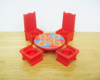Vintage Fisher Price Castle Table and Thrones