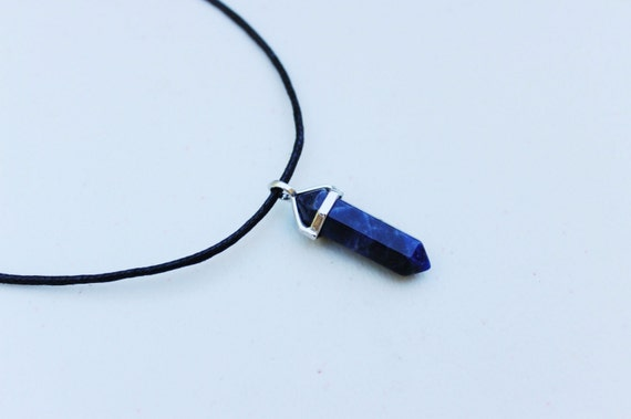 bead product gemstone necklace sodalite long denim lapis and genuine blue