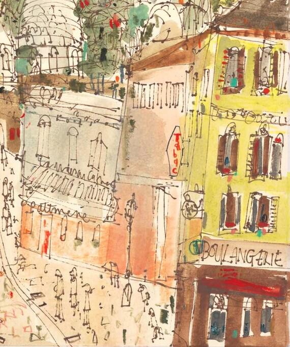 SACRE COEUR PARIS Print Montmartre Art Signed Parisian
