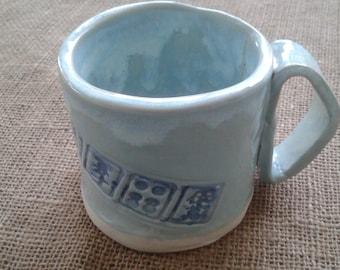Mahjong Mug - Oriental Cup -  Mahjong Lover - Mahjong Coffee Cup - Blue Mug - Green Mug - Mahjong Gift - Handmade Mahjong Mug