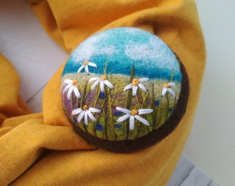 Women jewellery,needle felted brooch,pin for scarf,gift idea,dress brooch