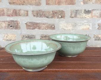 Set of 2 Seafoam Green Bowls