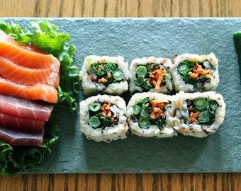 Sushi & Chopstick Plate in Sea Green
