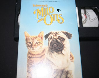 Milo and Otis VHS Movie, The Adventures of Milo and Amos, 1989 VHS, Award Winner, Family Movie