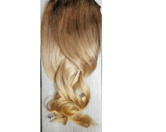 Full set Human Hair Clip in Extensions- Ombre 20""