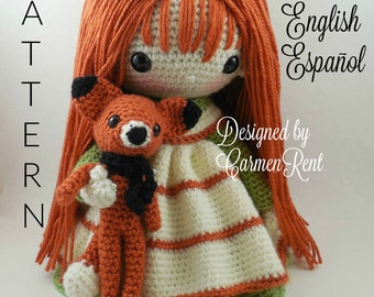 Tammi and her Fox - Amigurumi Doll Crochet Pattern