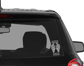 My Dad is My Guardian Angel Car Decal - Vinyl Car Decal - Remembrance Gift
