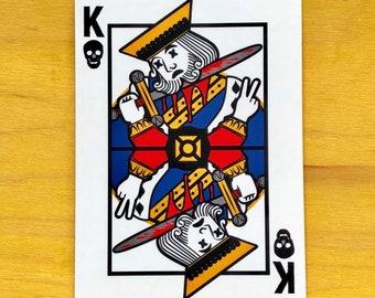 King playing card sticker.