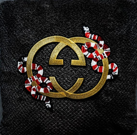 Gucci Snake Patch Embroidered Gucci Patches Chanel