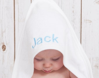 Personalised Baby Towel - Supersoft hooded towel for baby girls or boys - unique and special gift idea!