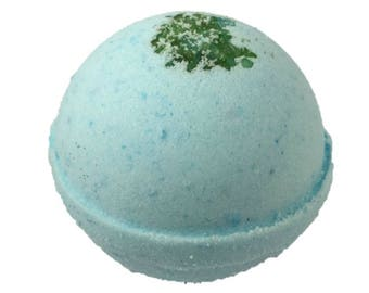Bath bomb, natural bath bomb, cold and flu relief bath bomb, eucalyptus bath bomb, bath bomb scented with essential oils.