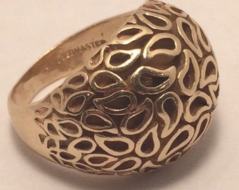 Estate Jewelry-14k gold domed ring