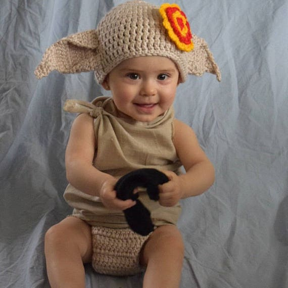 sc 1 st  Etsy & Dobby The House Elf Costume Hat And Diaper Cover From Harry