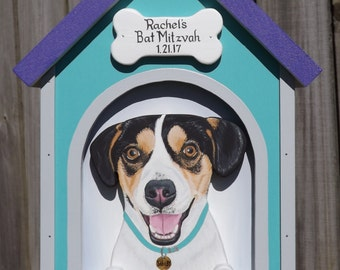 Event Card Box Dog House - Card Box for Medium Weddings or Other Events, Donation Box