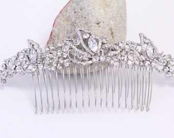 Silver Boho Flower Leaf Hair Vine Comb,Silver wedding comb,Wire Hair Comb,Boho Wedding Gold Hair vine leaves,Boho Headpiece,Bridesmaid hair