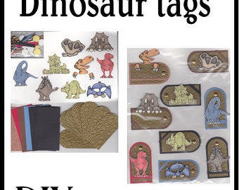 CLEARANCE SALE * Scrapbook Page Dinosaur Scrapbook Paper Tag kit Scrapbooking Embellishment 3d Dino ticket Birthday Scrapbook Paper Piecing