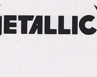 Metallica permanent vinyl decal
