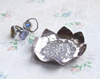 Silver trinket dish Etsy