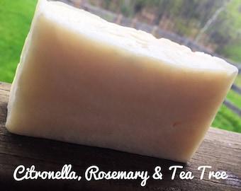 Citronella, Rosemary & Tea Tree Soap, Bug Repellent Soap, Citronella Soap, TeaTree Soap, Bug Soap, Rosemary Soap, Outdoor Soap, Camping Soap