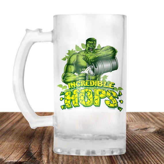 The Hulk - The Incredible Hulk - Hulk Incredible Hops! The Hulk Craft Beer Mug