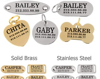 Dog Tag, Dog Tag for Dogs, Personalized Dog Tag, Cat Tag, Pet Tag, Engraved Dog Tag, Dog Id tag