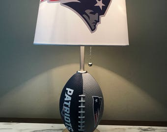 New England Patriots Football Lamp Nfl Sports Team. Made By Thatlampguy