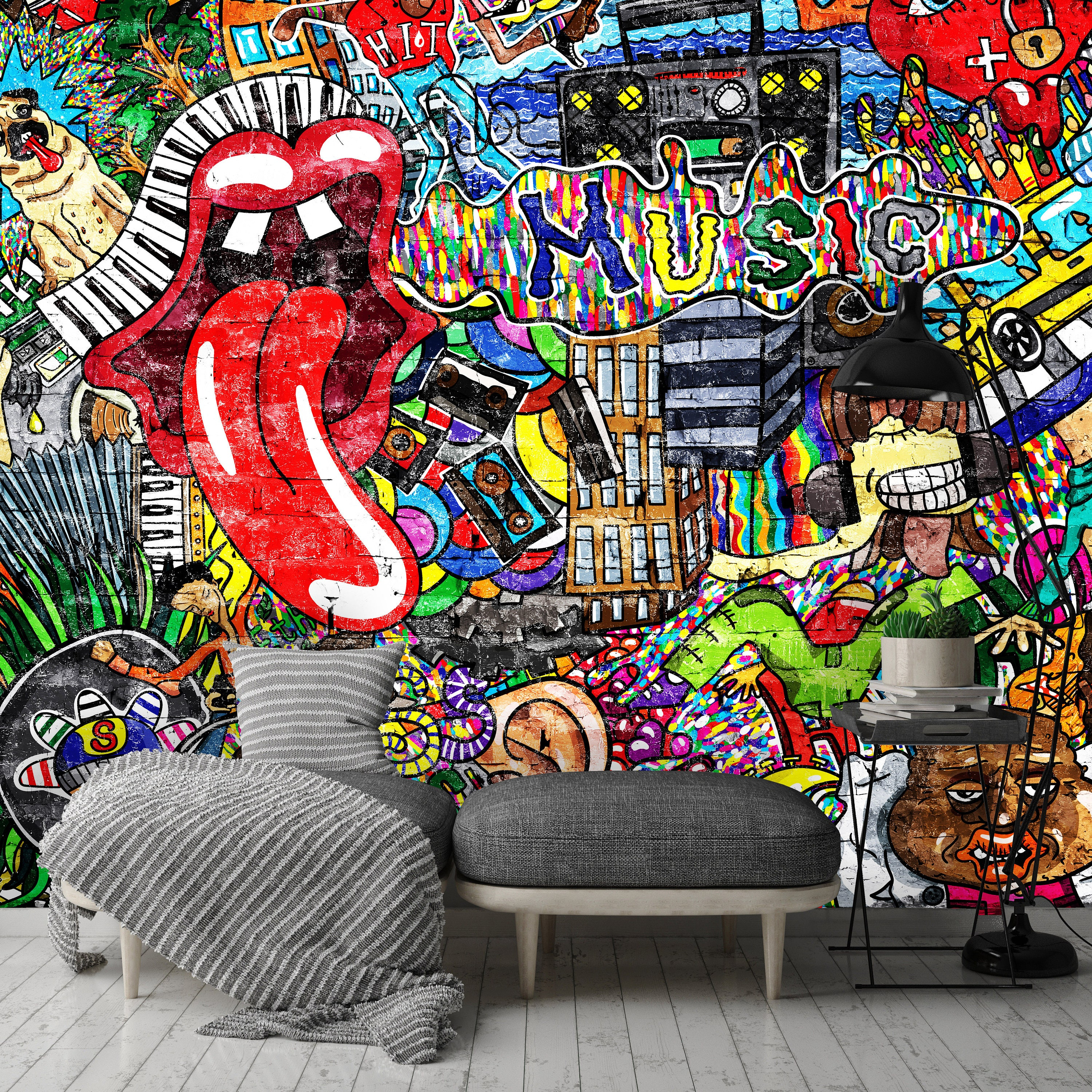 Wonderful Wallpaper Music Graffiti Art - il_fullxfull  Trends_255698.jpg?version\u003d0