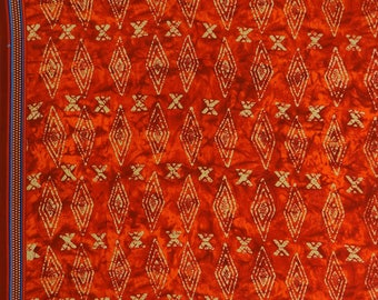 "Decorative Tie Dyed Printed, Cotton Fabric, Dressmaking Sewing Material, Red Fabric, 43"" Inch Fabric By The Yard ZBC8721B"