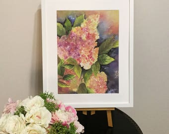 Night Hortensia Painting