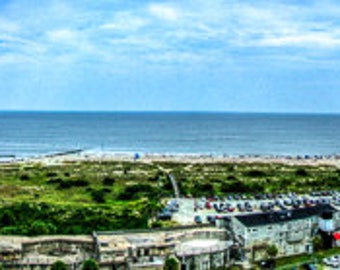 FINE ART PANORAMA | Color Fine Art Print view from atop the Tybee Island Lighthouse