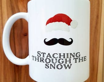 11 oz ceramic mug - Staching