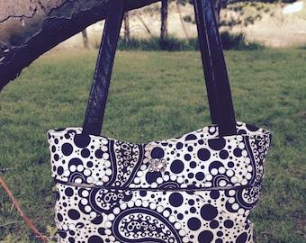 Miss Mini Black Paisley Handbag