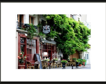 Paris Wall Decor, Paris Photography, Paris Cafe, Paris Cafe Art, French Bistro, Parisian Decor, Kitchen Decor, French Wall Art