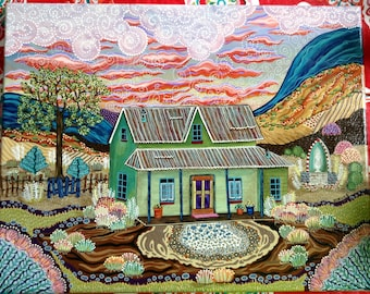 """8x10, 11x14, 16x20 Ghost Story, New Mexico Haunted House, Matted/Signed Giclee Print Of """"The Turquoise Trail"""""""