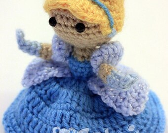 PATTERN Instant Download Cinderella Princess Crochet Doll Amigurumi Disney Princess