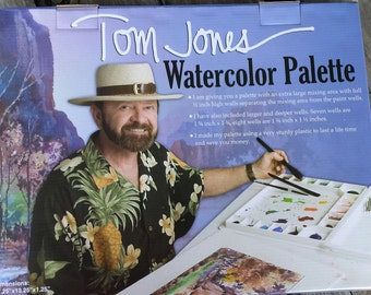 Tom Jones watercolor palette large painting palette