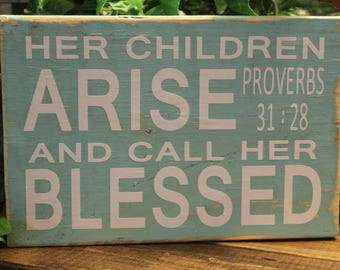 Rustic Wood Block with Scripture