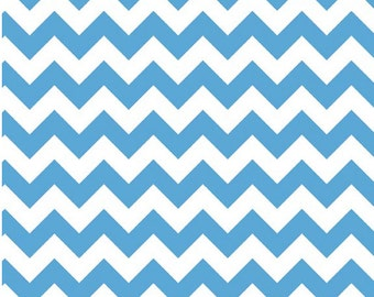 Medium Chevron Medium Blue  by Riley Blake Designs 1 yard cut