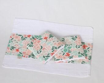 Floral Organic Burp Cloth Set (3)