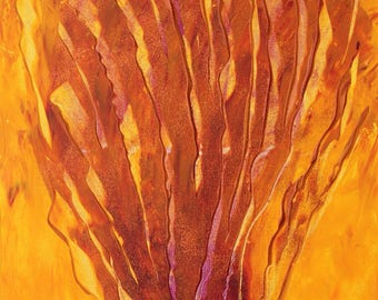"""Abstract painting-art-acrylic on canvas """"the Flame/The Flame"""""""
