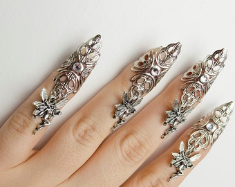 Fairy nail claw rings - set of 5