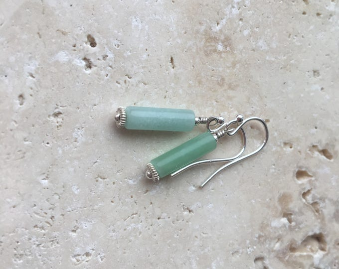 Aqua Colored Stone Littles Earrings Unique Simple Delicate Dainty Minimalist Affordable Healing Chakra Energy Gemstones Inspirational Gift
