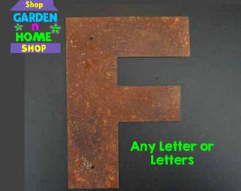 """3"""" Rusted Metal Letters"""
