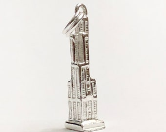 925 Sterling Silver Willis Tower/ Sears Tower Charm/Pendant